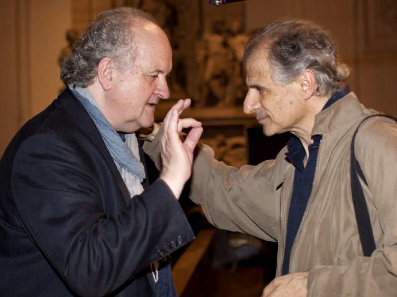 Wolfgang Rihm und Emilio Pomàrico bei der musica viva_1 (c) Astrid Ackermann