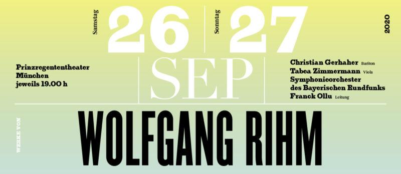 26./27.09.2020 Wolfgang Rihm Konzert
