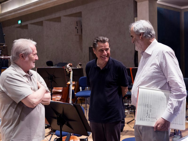 Peter Eötvös, Winrich Hopp und Helmut Lachenmann (c) Astrid Ackermann