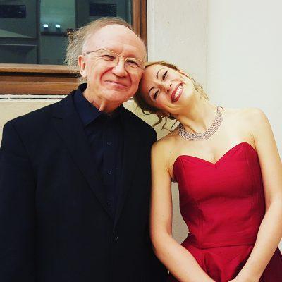 Sarah Maria Sun mit Heinz Holliger (c) Sarah Maria Sun