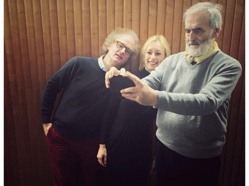 Sarah Maria Sun mit Helmut Lachenmann (rechts) und Jan Philip Schulze (links) (c) Sarah Maria Sun