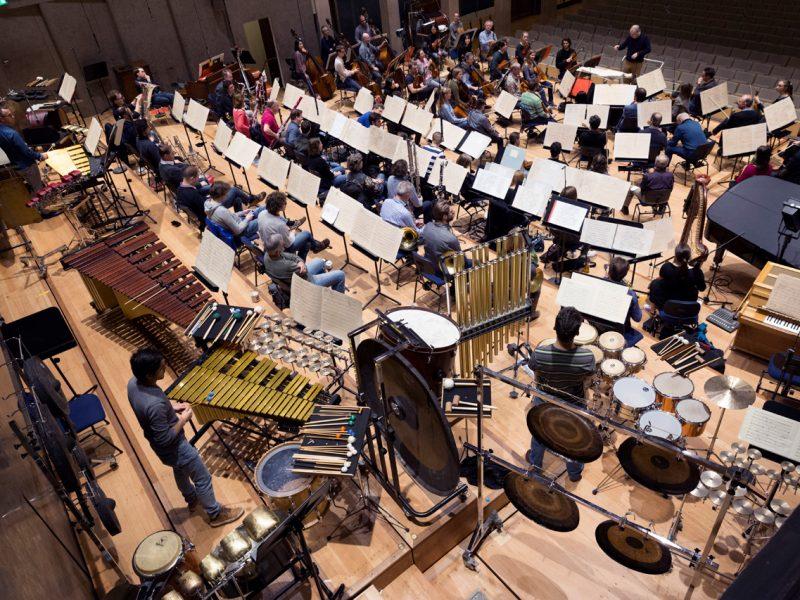 Orchesterprobe mit Stefan Asbury, März 2018 (c) Astrid Ackermann