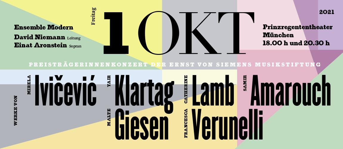 Titelbild zu PreisträgerInnenkonzerte der Ernst von Siemens Musikstiftung